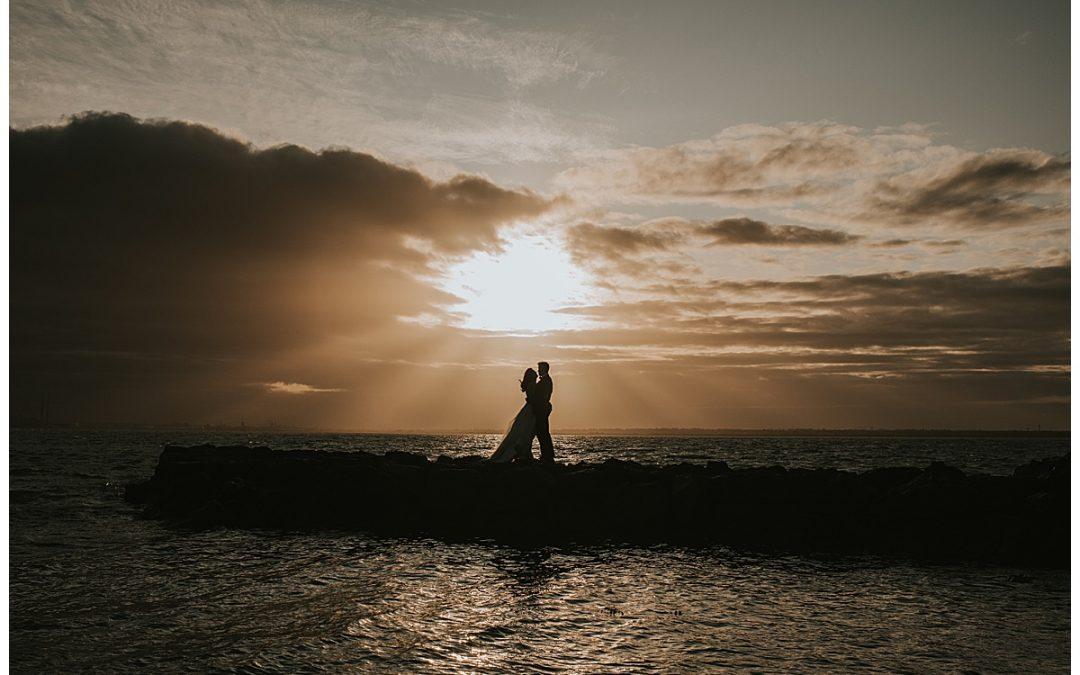 Howth Cliffs Post Wedding Shoot
